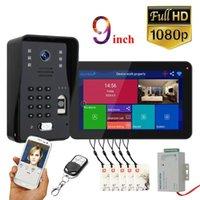 Inch Wifi Wireless-Video-Türtelefon Türklingel-Intercom-System mit kabelgebundenen Fingerabdruck RFID AHD 1080P Zugangskontrolltelefone