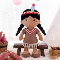 Gloveleya Bebek Dolması Bebek Oyuncakları Tribal Kız Bebekler Yumuşak Peluş Oyuncak Bebek Kız Doğum Günü Noel Hediyeleri İlk Bebek Kız Bez Bebek Q0727