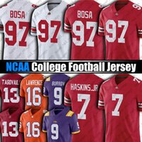 NCAA Ohio State Buckeyes 97 Ник Bosa 7 Dwayne Haskins Jr Jersey 9 Joe Burrow Lsu Tigers Trevor Lawrence Футбол Джетки Travis Ethienne JR TUA TAGOVAILO TOM BRADY