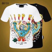 PP Men's T-shirt Summer rhinestone Short Sleeve Round Neck shirt tee Skulls Print Tops Streetwear M-xxxL 88155
