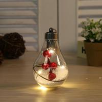 5 أنماط الصمام الكرة الشفافة شجرة عيد الميلاد ديكورات شنقا الكرات المصباح البلاستيكية 7 * 7 * 11 سنتيمتر FWD10199