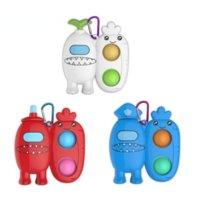 US Stock Gunst Fingerspielzeug Finger Blase Fun Space Werwolf Keychain Fingertip Spinning Dekompression Spielzeug