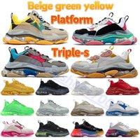 Beige verde amarillo triple zapatos casuales gimnasio rojo azul claro suela negro blanco gris metálico plata azul marina hombres zapatillas zapatillas plataforma plantilla entrenadores