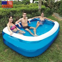 السباحة مركز الفناء الخلفي الأسري فوق الأرض نفخ Kiddie حمام السباحة H0016 الولايات المتحدة الأسهم تسليم سريع