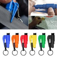 Portable Mini Light Emergency Rescue Tool For Mini Car Auto Security Break Hammer Window With Key Chain Safety Belt Knife