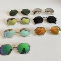 여름 복고풍 패션 선글라스 반사 색 컬러 필름 다각형 다이아몬드 태양 안경 클래식 브랜드 안경 무료 배송