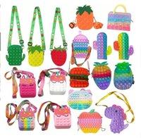 DHL 3-7 giorni consegna giocattoli giocattoli favorire il sacchetto di moda sensoriale Kid Push Bubble Rainbow Anti stress Bambini educativi e adulti Decompressione giocattolo CO18