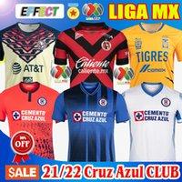 2021 2022 클럽 크루즈 AZUL 축구 유니폼 20/21/22 챔피언 블루 화이트 홈 멀리 셋토 워터 셔츠 리가 MX Camisetas de Futbol Kit Xolos Club Tijuana Club Leon