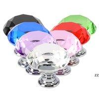 30mm Diamond shape Crystal Glass Alloy Door Drawer Cabinet Wardrobe Pull Handle Knobs Drop Worldwide Store HWE9968