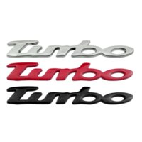 Carro turbo tronco traseiro adesivo emblema decalque emblema para buick audi dodge jeep volkswagen chevrolet opel peugeot decoração renault