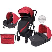 Strollers# BURBAY Luxury Baby Stroller High View Pram Carrier Chinese Supplier Directly Sale 3 In 1 Babay
