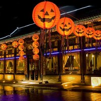 Factory Party Decoration Halloween Pumpkin skeleton bat witch paper lantern with beard Ghost Festival shopping mall ghos