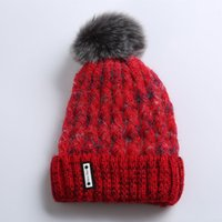 Winter New Style Curled Fashion Knitted Plus Pom Pom Hat Cashmere Warm Ladies Beanie Hat Woman Designers Hats 2020 Woman Luxurys Designers