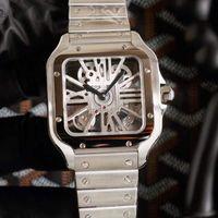 TWF Tom Holland Dumont Watches WhSa0007 WHSA0015 سويسرية روندا 4S20 كوارتز رجالي ووتش WHSA0008 الهيكل العظمي الطلب سوار الفولاذ المقاوم للصدأ HWRX