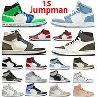 En kaliteli jumpan 1s havaÜrdünAJ1Basketbol Ayakkabıları 1 Gümüş Toe Yüksek Koyu Mocha Obsidiyen UNC Korkusuz Patent Üniversitesi Mavi Duman Gri Chicago Sneakers