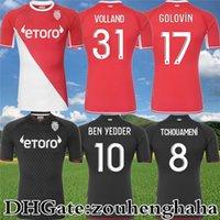 موناكو بن يادن لكرة القدم الفانيلة 2021 22 as Golovin Tchouameni Mailleots De Foot Volland B.BadiaShile Diatta Gelson.m S.Diop Jakobs Fofana Disasi Football Shirts Kit