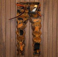 Designer Jeans Pants for Men Casual Brand Denim Pants Luxury Distressed Ripped Biker Pants Streetwear Mens Jeans Denim