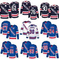 Ne York Rangers Jersey 24kaapo Kakko 10 Artemi Panarin 30 Henrik Lundqvist 27 Ryan McDonagh Nash Skjei Mika Zibanejad Chris Kreider NY Jerseys