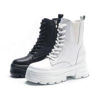Botas Swyivy Cuero genuino Whtie Snow Women Winter Shoes Warm Zapatillas de deporte Top Top 2021 Fur Fumake Boot