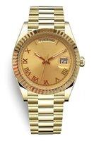 Top-Master-Design, vollautomatische mechanische Uhr, klassisches Goldzifferblatt, großer Fensterkalender, Klappschnalle, Saphirglas, Fashion Stars Wahl