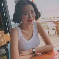 cotton Sexy Solid Strappy Tanks femme Vest white Women Summer Girls Beach Sports Tank Tops Cropped Tees mujer 210423