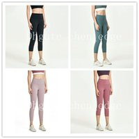 Wholesale yoga pants women's high-waisted hips tight-fitting running nude fitness elastic cropped pants top quality
