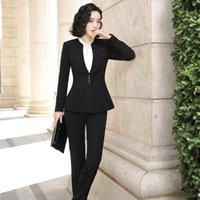 Costumes de femmes blazers formelle blazer blazer dames pantalons femmes travaux d'entreprise usure de vêtements de vêtements Pantsuits OL Styles