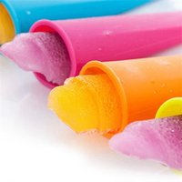 DIY Silicone Frozen Ice Cream Old Popsicle Mold With Cover Kitchen Tools Food Grade Children Pop Maker Molds 7O1N