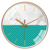 Wall Clocks Nordic Gold Clock Luxury Simple Modern Design Abstract Living Room Art Silent Kitchen Horloge Home Decor ZB5WC