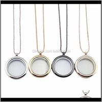 Chains & Pendants Jewelry1Pc Women Float Necklaces Glass Charms Memory Locket Pendant Chain Necklace Fashion Jewelry1 Drop Delivery 2021 Fmi