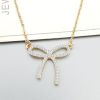 Sencillo arco con diamantes collar arco cadena de clavícula