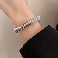 Bangle Fashion Trendy Circle Crystal Bead Bracelets For Women