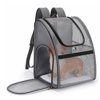 Breathable Pet Cat Carrier Backpack Large Capacity Dogs Carrying Bag Folding Chest Portable Outdoor Travel Pets Carriers,Crates & Houses