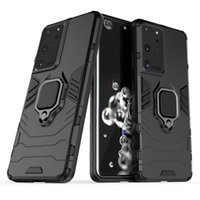 Ringhouder Kickstand Cover Case Armor Rugged Dual Layer voor Samsung Galaxy Note 20 Plus S21 Plus S21 Ultra A02S EU 50 stks / partij