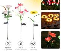 Novelty Lighting led solar rose sunflower lily flower lamp courtyard plaza park decoration light IP65 lights