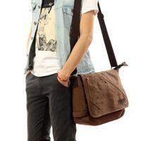Bag, Leisure Canvas Shoulder Luxurys Bagsmen's Retro Travel Bag, Student Schoolbag, Notebook Briefcase.