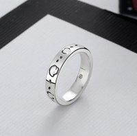 النساء الرجال الجمجمة الذهب رسالة البنصر مع الأزياء والمجوهرات اكسسوارات عالية الجودة حلقات الحب