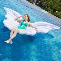 نفخ يطفو أنابيب نمط شاطئ كرسي أجنحة الملاك الهواء بركة سباحة أريكة بيع مضادة للأشعة فوق البنفسجية لعبة