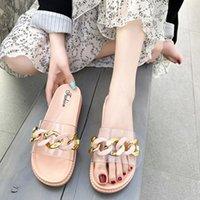 Femme Summer Samed Sold 2021 SS Maison à fond plat Slin Slip Sanie Sandales Sandales Femme Pantoufles occasionnelles Outdoor Pantoufles Flops