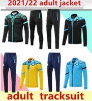 2021/22 Napoli Trainingsanzug Jacke Hoodie Fussball Jersey Zielinski 21/22 SSC Neapel Long Zipper Jacke Set Veste Anzug