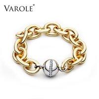 Varle يمكن فتح الشرير سلسلة سميكة سوار مع الكرة الذهب أساور لون للنساء الأزياء مجوهرات حزب هدية