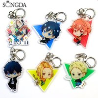 Schlüsselanhänger Songda Anime gegeben Schlüsselanhänger Yuri Katsuki Plisseky Ring NikiForov Doppelseitiges Acryl Anhänger Schlüsselanhänger Geschenk