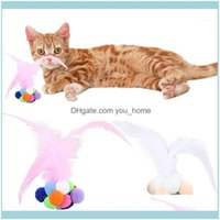 Cat Home & Gardencolorful Feather Interactive Pets Cats Teeth Grinding Catnip Toys Bells Bouncy Ball Bite Catmint Pet Supplies #F#40Nv51 Dro