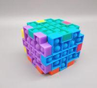Creative Rubik's Cube Desktop Toy Mouse Control Pioneer Silicone Press Ball Sensory Fidget Juguete DIY Niños Juguetes HHC6867