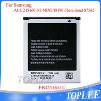 Toptan Fiyat !! Yüksek Kalite EB425161LU Pil EBL1M7Flu 1500 mAh Samsung Galaxy S3 Mini GT-I8190 Için I8160 ACE 2 Trend