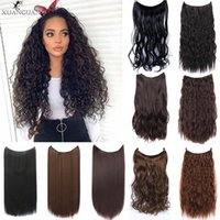 Synthetic Wigs 24 Inches Invisible Wire No Clips In Hair Secret Fish Line Piece Silky Curly