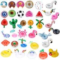 PVC İçecek Bardak Tutucu Şişme Mermaid Coaster Su Malzemeleri Flamingo Mantar