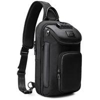 Backpack SUUTOOP Men's Oxford Waterproof Multifunction Crossbody Shoulder Bags Pack Messenger Chest Bag Man Sling Travel For Male