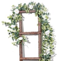 Artificial Rose Vine Hanging Flowers for Wall Table decor Rattan Fake Plants Leaves Garland Romantic Wedding Home Decoration