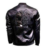 Autumn Leather Jacket Man Plein Skull Korean Style Slim Clothes Trend Cool Street Hip Hop Thin Pu Coat